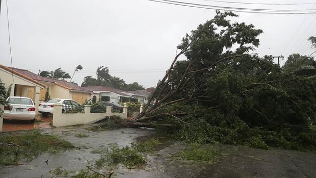 """Hurrikan """"Irma"""" verwüstete ganze Straßenzüge, wie hier in Miami"""