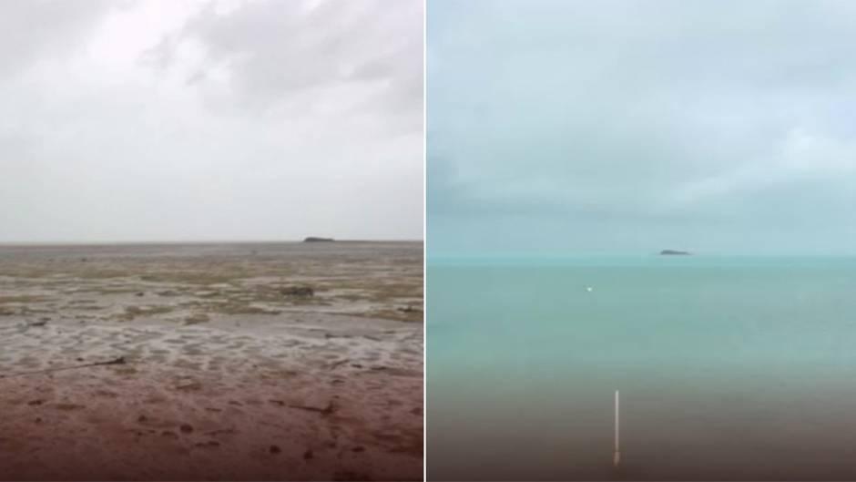 """Wasserrückgang auf den Bahamas : Als Hurrikan """"Irma"""" das Meer verschluckte"""
