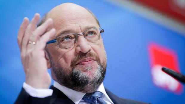 Martin Schulz spricht in Berlin in der SPD-Parteizentrale zu Journalisten