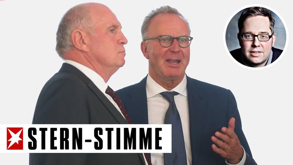 In der Spitze des FC Bayern herrscht Uneinigkeit zwischen Uli Hoeneß (l.) und Karl-Heinz Rummenigge (Archivbild)