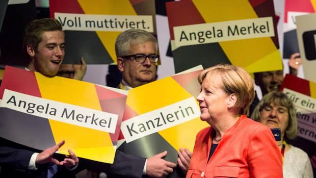Angela Merkel im Wahlkampf Voll muttiviert für ein Deutschland, in dem wir gut und gerne leben