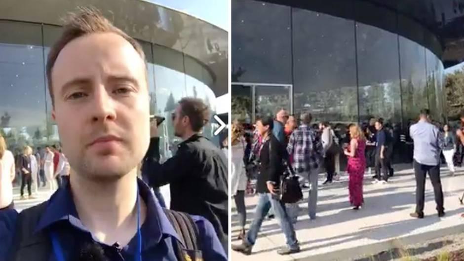 """Live im """"Steve Jobs Theater"""": Sehen Sie hier live die ersten Eindrücke vom Apple Campus"""