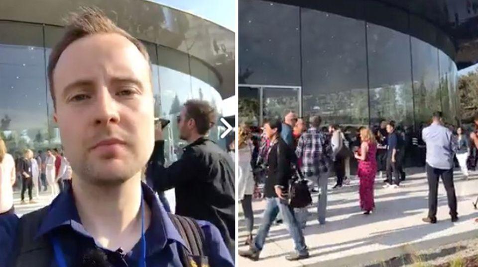 Kopfverletzungen und Schnittwunden: In Apples futuristischer neuer Zentrale laufen Mitarbeiter in Glaswände