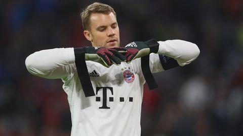 Manuel Neuer nach dem Sieg gegen Anderlecht - zufrieden war nur der Trainer