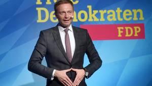 Christian Lindner, Parteichef der FDP bei einem Wahlauftritt. Die CDU und die FDP bekommen Parteispenden in Millionenhöhe