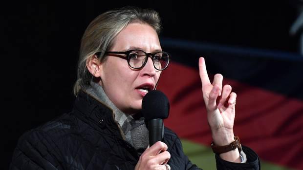Alice Weidel von der AfD während einer Wahlkampfveranstaltung in Jena