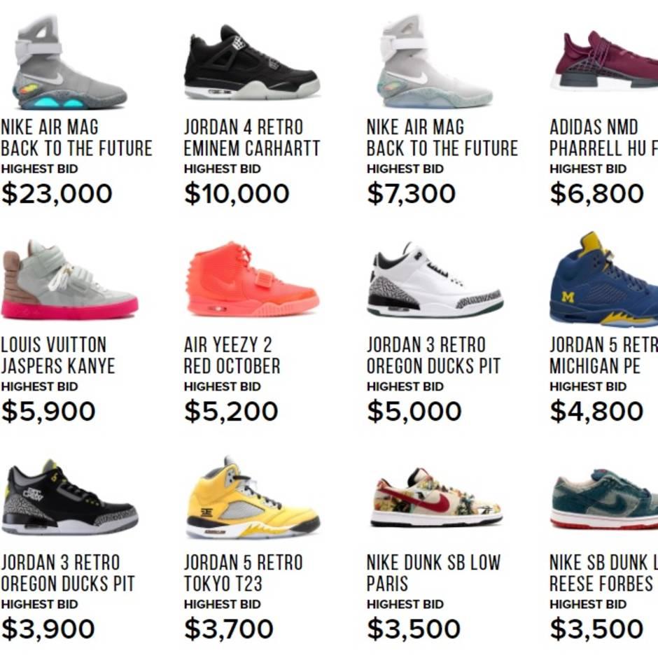 Sneaker als Sammelobjekt das Geschäft mit den teuren