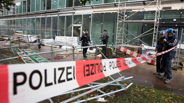 In Hamburg hat Herbststurm Sebastian ein Todesopfer gefordert