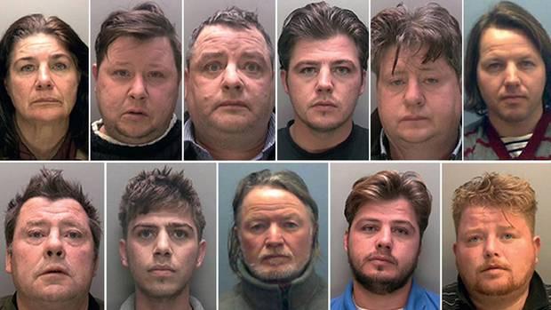 Die elf Verurteilen gehören einer Großfamilie im englischen Lincolnshire an
