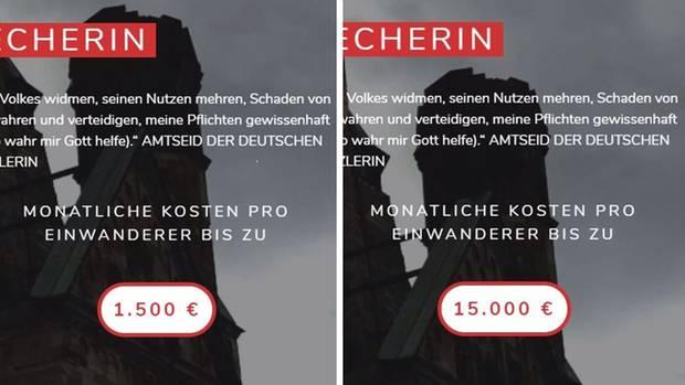 Die AfD korrigierte ihre Angaben zu den Kosten für Einwanderer und machte ihr Quellen transparenter