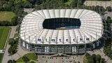 Das Hamburger Volksparkstadion (rund 51.000 Sitzplätze)