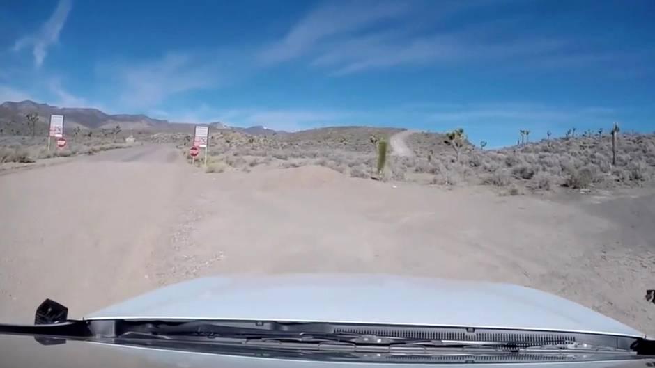 "Seltene Aufnahmen: Amerikaner filmen geheime Militärbasis ""Area 51"""