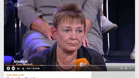 Petra Vogel brachte Bundeskanzlerin Angela Merkel im ZDF beim Thema Rente ins Schlingern