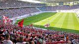 Red-Bull-Arena in Leipzig (knapp 43.000 Zuschauer)