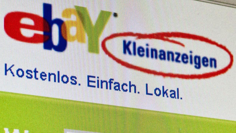 Ebay Kleinanzeigen mit Suchmaske und Logo