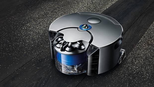 Der Dyson 360 Eye heißt so, weil er mit einer 360-Grad-Kamera seine Umgebung vermisst. Der einzige Sauger im Metallmantel - Fullmetaljacket sozusagen.