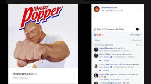 Tinder-Wahnsinn Screenshot Facebook