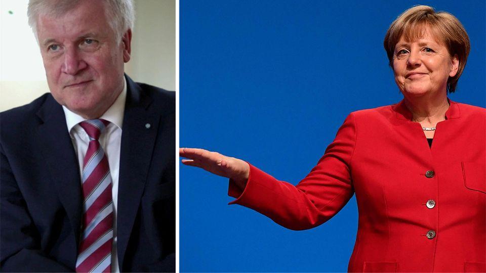 In einem ziemlich leeren Raum sitzt CSU-Politiker Horst Seehofer auf einem Stuhl und berichtet über seine Streits mit Merkel