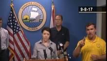 Irma Manatee County Facebook Live Zeichensprache