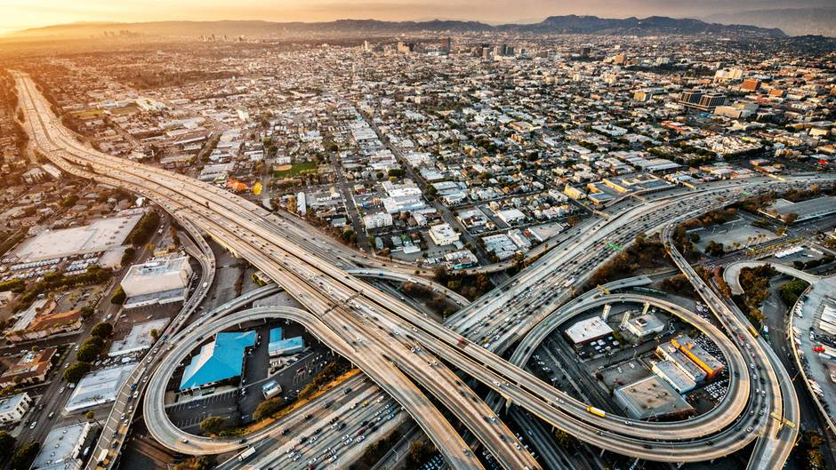 Los Angeles Straßennetz Intersection