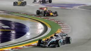 Lewis Hamilton in Singapur