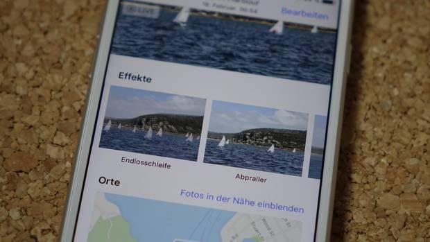 Live Fotos können nun mit weiteren Effekten versehen werden.