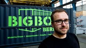 """BigBoxBerlin-Gründer Steffen Tröger sagt über seine Geschäftsidee: """"Hochseecontainer - das ist ein toller und vielseitig einsetzbarer Rohstoff, wenn man weiß, wie man mit ihm umzugehen hat."""""""