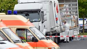 In diesem Lkw waren die 50 Flüchtlinge nach Deutschland geschleust worden