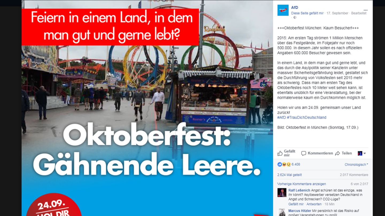 AfD Oktoberfest Wahlplakat