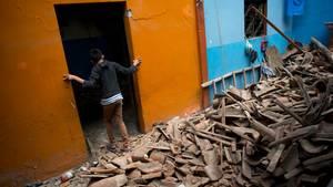 Diese Schäden in dem Ort Juchitan stammen noch vom letzten schweren Beben vor knapp zwei Wochen