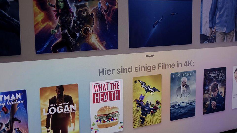 Zum Start gibt es viele 4K-Filme der großen Studios, auch dank Netflix-Anbindung