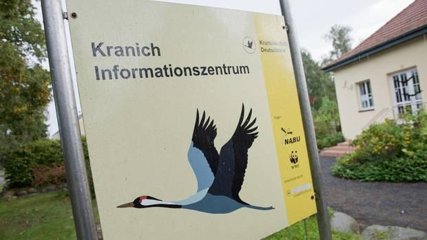 Das Kranich-Informationszentrum in Groß Mohrdorf in Mecklenburg-Vorpommern