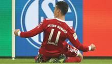 Neuzugang James brachte den FC Bayern München mit dem 2:0 endgültig auf die Siegerstraße