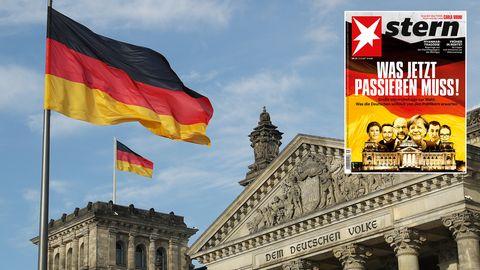 Reichstag in Berlin mit stern-Cover