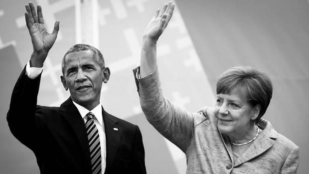 Sie waren sich lieb und beinahe heilig. Ex-US-Präsident Obama und die Kanzlerin beim Evangelischen Kirchentag