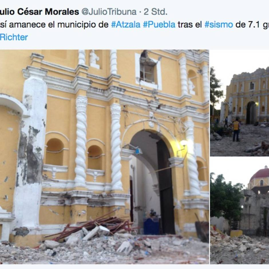 Erdbeben In Mexiko Elf Menschen Bei Taufe Verschüttet Sternde
