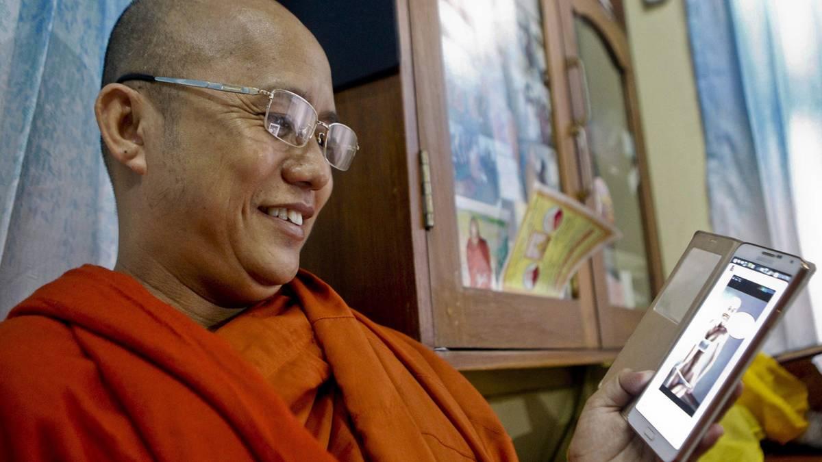 Ein buddhistischer Mönch, der nur Hass kennt