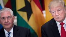 Donald Trump und Rex Tillerson