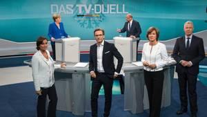 TV-Duell Merkel Schulz