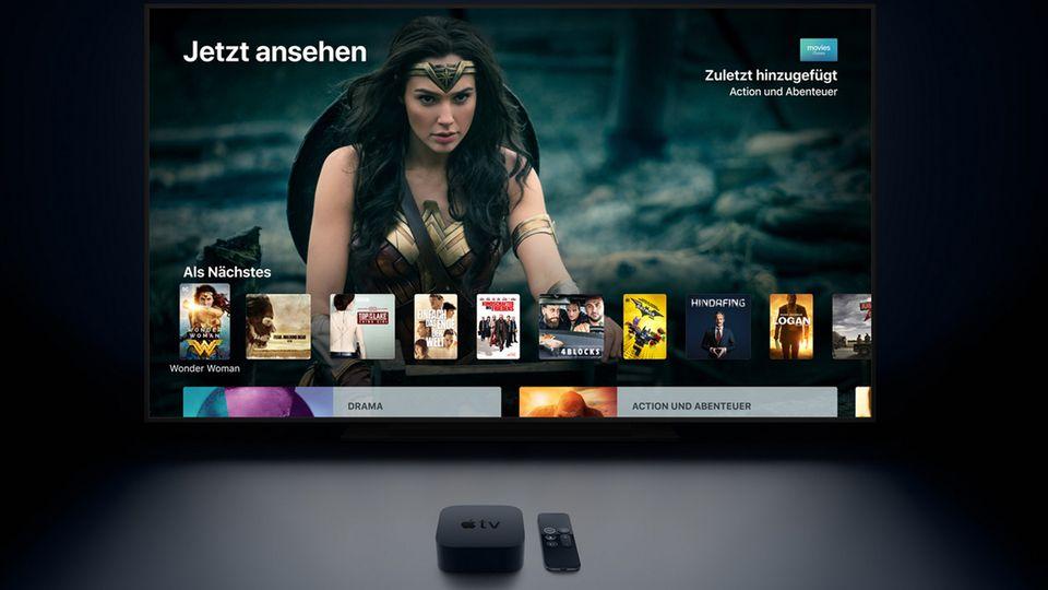 Mit 199 Euro ist das Apple TV 4K teurer als die meisten Konkurrenten. Das Menü ist mit seinen großen Bildern und Kacheln dafür deutlich übersichtlicher als bei vielen Mitbewerbern. Nur an Siri muss der Konzern noch arbeiten.
