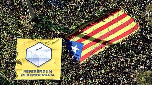 Demonstration am 11. September 2017 in Barcelona