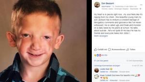 Mobbing in der Schule: Mutiger Vater verteidigt seinen kranken Sohn auf Facebook