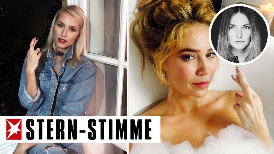 Model Lena Gercke (l.) und Moderatorin Palina Rojinski engagieren sich für die Aktion #Gerwomany, die Frauen zum Wählen animieren soll