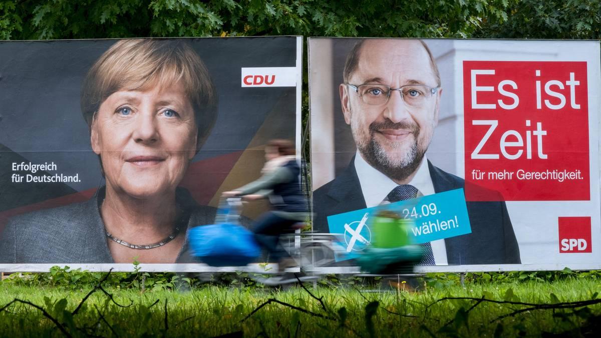 Wahlkampf-Rhetorik: Was Angela Merkel gut und Martin Schulz schlecht macht