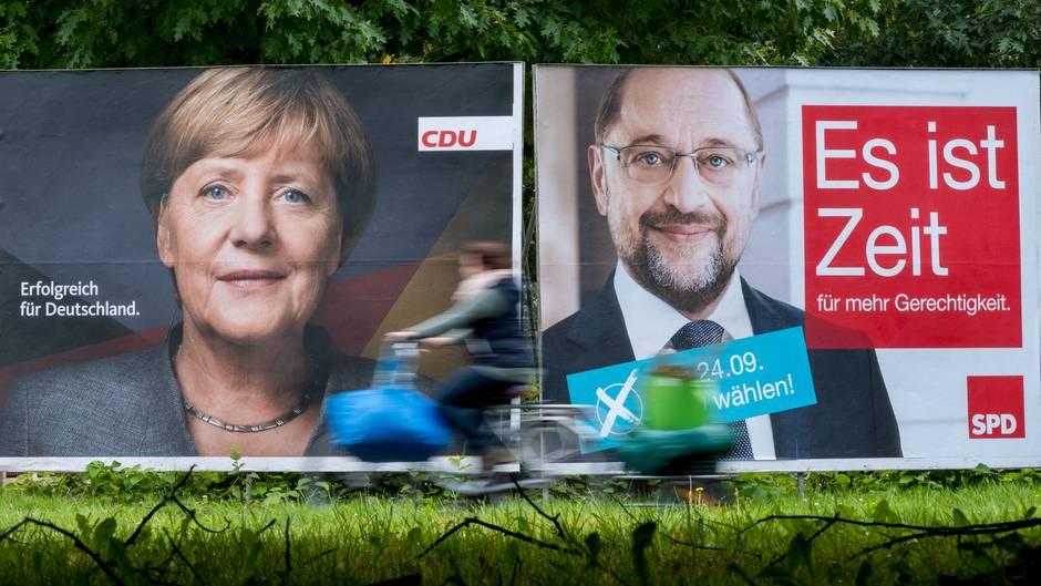 Wahlkampf: Eine Sprachwissenschaftlerin erklärt die Rhetorik von Schulz und Merkel