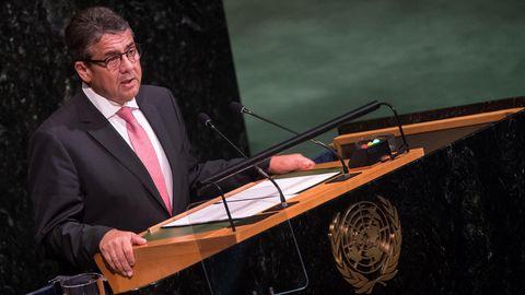 Sigmar Gabriel spricht bei der 72. UN-Vollversammlung in New York