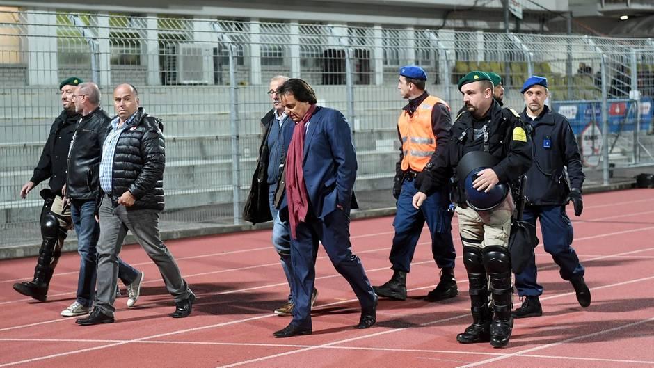 Christian Constantin während des Spiels gegen den FC Lugano