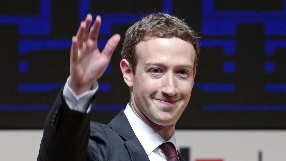 Mark Zuckerberg, Facebook-Gründer bei einem öffentlichen Auftritt