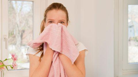 Handtücher sollten nicht länger als zwei Tage in Gebrauch sein.