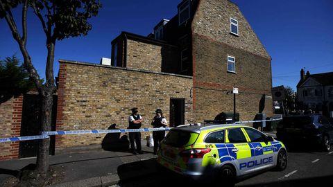 Im Garten dieses Hauses in London wurde die verkohlte Leiche gefunden
